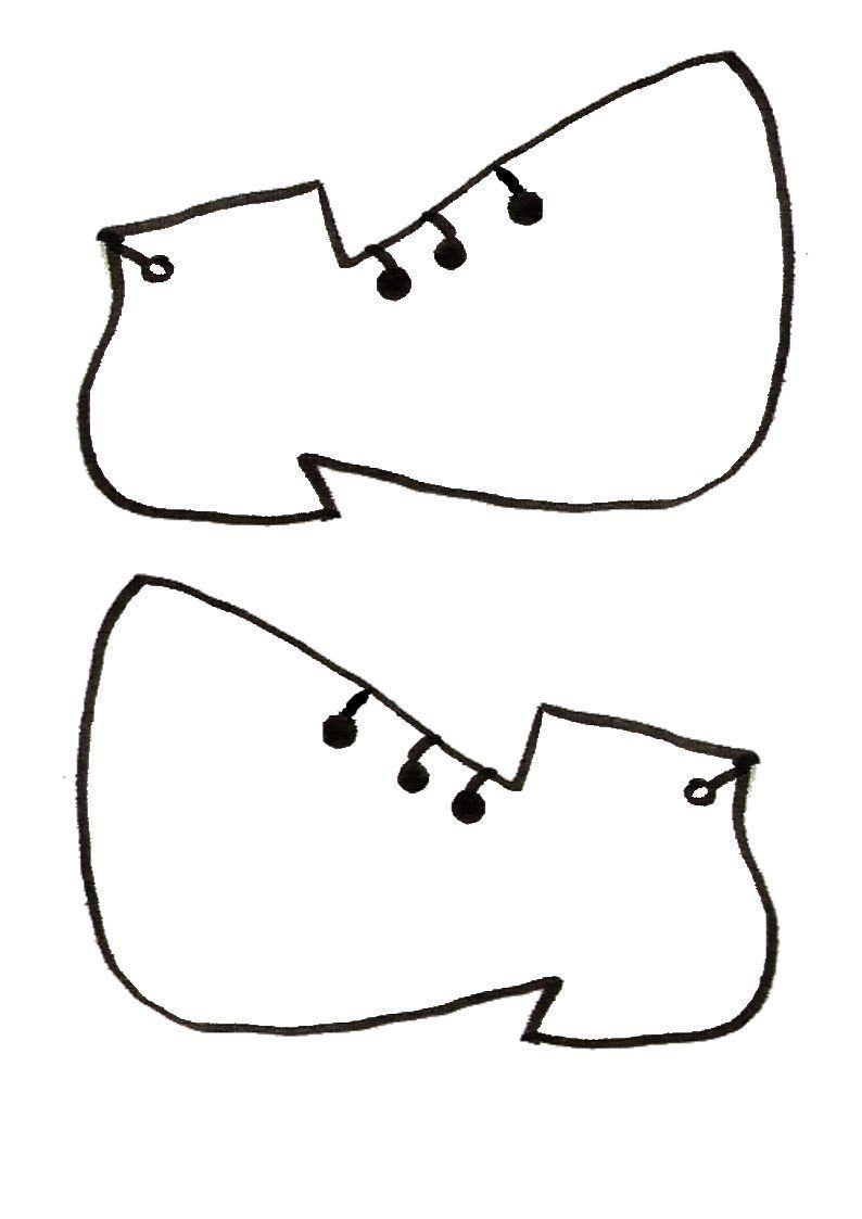 Gabarit chaussures pour clown ballon - Tete de clown a imprimer ...